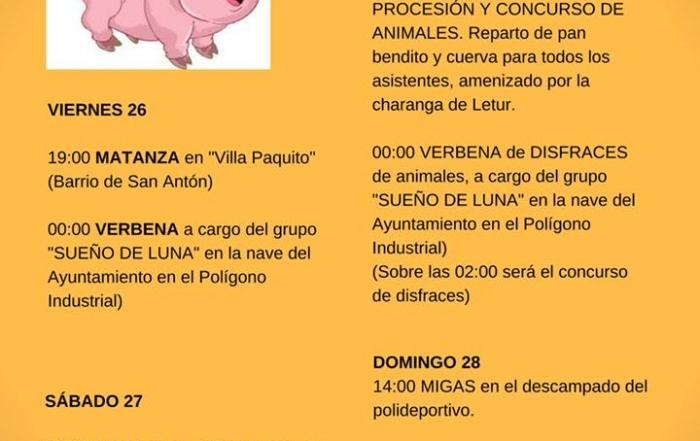 Fiestas de San Antón 2018